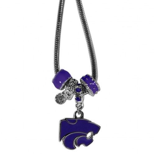 Kansas State Wildcats Euro Bead Necklace