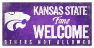 Kansas State Wildcats Fans Welcome Sign