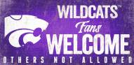 Kansas State Wildcats Fans Welcome Wood Sign