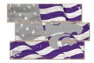 Kansas State Wildcats Flag 3 Plank Sign