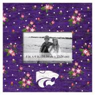 """Kansas State Wildcats Floral 10"""" x 10"""" Picture Frame"""