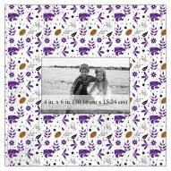 """Kansas State Wildcats Floral Pattern 10"""" x 10"""" Picture Frame"""