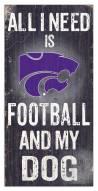 Kansas State Wildcats Football & My Dog Sign