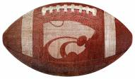 Kansas State Wildcats Football Shaped Sign