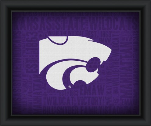 Kansas State Wildcats Framed Word Cloud