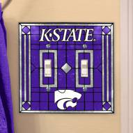 Kansas State Wildcats Glass Double Switch Plate Cover
