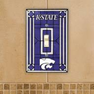 Kansas State Wildcats Glass Single Light Switch Plate Cover