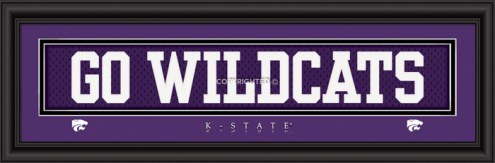 "Kansas State Wildcats ""Go Wildcats"" Stitched Jersey Framed Print"