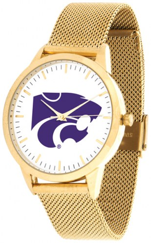 Kansas State Wildcats Gold Mesh Statement Watch