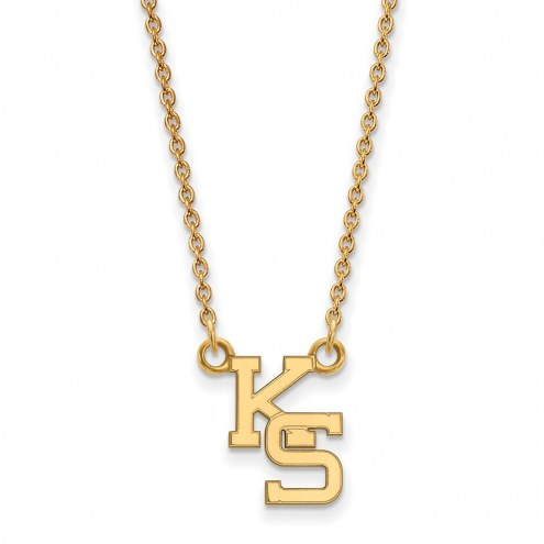 Kansas State Wildcats Sterling Silver Gold Plated Small Pendant Necklace