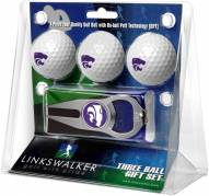 Kansas State Wildcats Golf Ball Gift Pack with Hat Trick Divot Tool