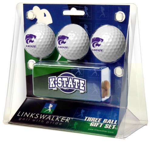 Kansas State Wildcats Golf Ball Gift Pack with Slider Clip