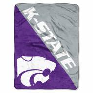 Kansas State Wildcats Halftone Raschel Blanket