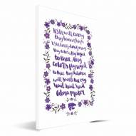 Kansas State Wildcats Hand-Painted Song Canvas Print