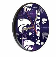 Kansas State Wildcats Digitally Printed Wood Clock