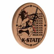 Kansas State Wildcats Laser Engraved Wood Clock
