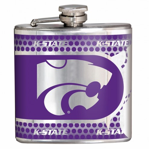 Kansas State Wildcats Hi-Def Stainless Steel Flask