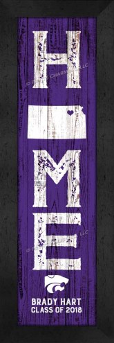 Kansas State Wildcats Home Away From Home Personalized Wall Decor