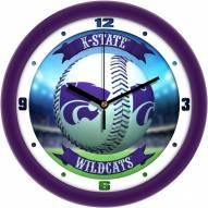 Kansas State Wildcats Home Run Wall Clock
