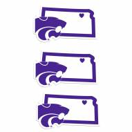 Kansas State Wildcats Home State Decal - 3 Pack