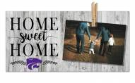 Kansas State Wildcats Home Sweet Home Clothespin Frame