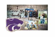 Kansas State Wildcats I Love My Family Clip Frame