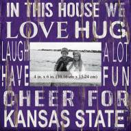 """Kansas State Wildcats In This House 10"""" x 10"""" Picture Frame"""