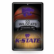 Kansas State Wildcats Large Embossed Metal Wall Sign