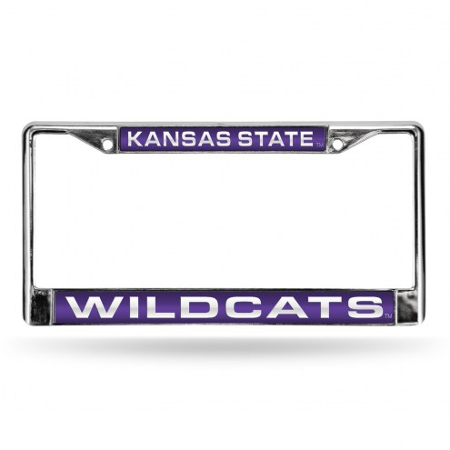 Kansas State Wildcats Laser Chrome License Plate Frame