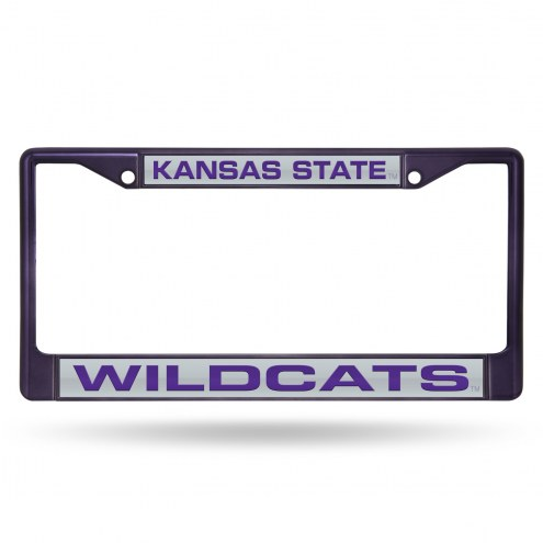 Kansas State Wildcats Laser Colored Chrome License Plate Frame