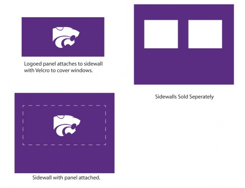Kansas State Wildcats Logo Canopy Sidewall Panel (Attaches to Window Sidewall)