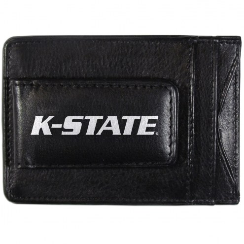 Kansas State Wildcats Logo Leather Cash and Cardholder