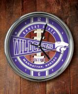 Kansas State Wildcats NCAA Chrome Wall Clock