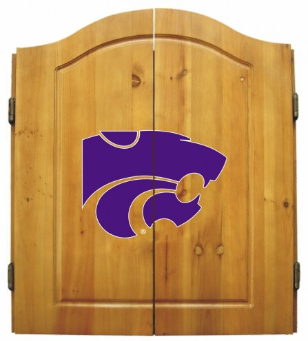 Kansas State Wildcats NCAA Complete Dart Board Cabinet Set