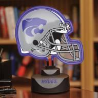 Kansas State Wildcats Neon Helmet Desk Lamp