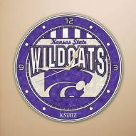 Kansas State Wildcats NCAA Stained Glass Wall Clock