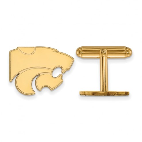 Kansas State Wildcats NCAA Sterling Silver Gold Plated Cuff Links