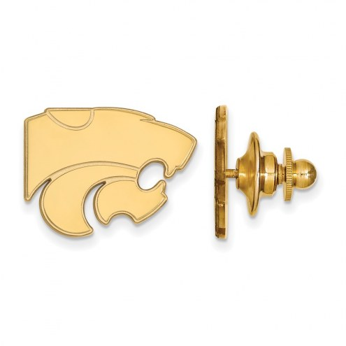 Kansas State Wildcats NCAA Sterling Silver Gold Plated Lapel Pin