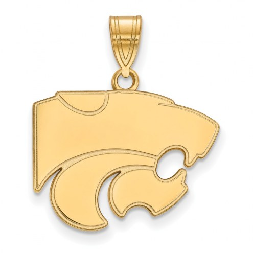 Kansas State Wildcats NCAA Sterling Silver Gold Plated Medium Pendant