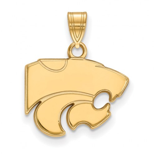 Kansas State Wildcats NCAA Sterling Silver Gold Plated Small Pendant