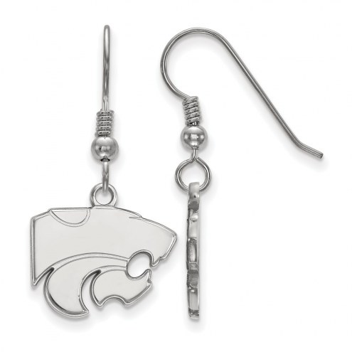 Kansas State Wildcats Sterling Silver Small Dangle Earrings
