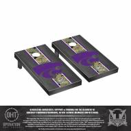 Kansas State Wildcats Operation Hat Trick Onyx Stained Cornhole Game Set