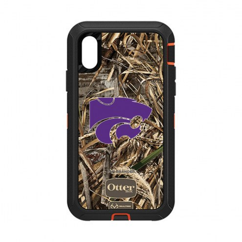 Kansas State Wildcats OtterBox iPhone XR Defender Realtree Camo Case