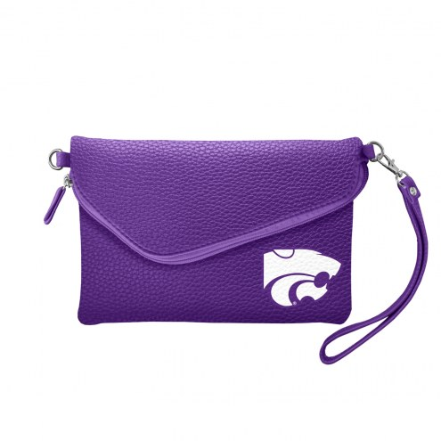 Kansas State Wildcats Pebble Fold Over Purse