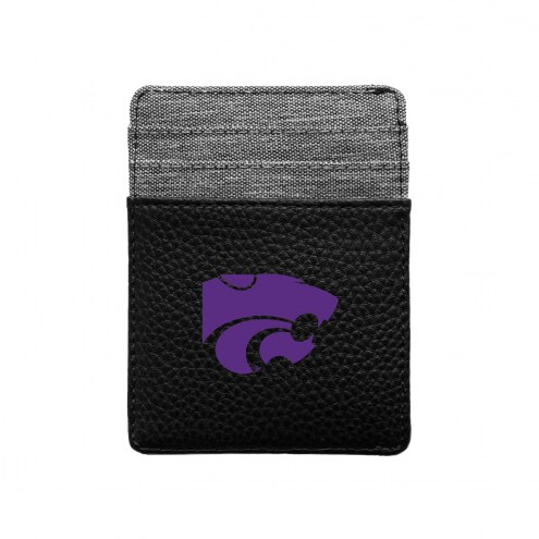 Kansas State Wildcats Pebble Front Pocket Wallet