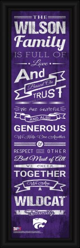 Kansas State Wildcats Personalized Family Cheer Framed Art