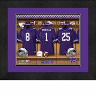 Kansas State Wildcats Personalized Locker Room 13 x 16 Framed Photograph