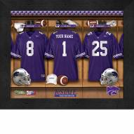 Kansas State Wildcats Personalized Locker Room 11 x 14 Framed Photograph