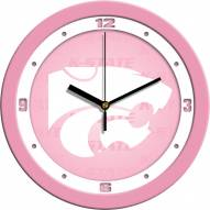 Kansas State Wildcats Pink Wall Clock