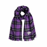 Kansas State Wildcats Plaid Blanket Scarf